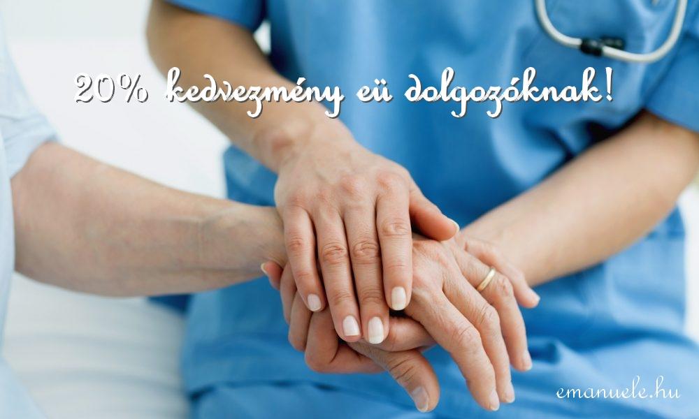 20% kedvezmény az egészségügyi dolgozóknak